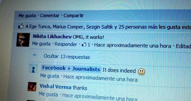 Facebook agregará una nueva capacidad de responder a los comentarios