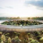 Proyecto de apple es un edificio en forma de nave espacial