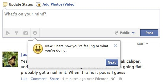 Facebook con nuevas funciones de emociones y gustos