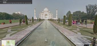 Visita al Taj Mahal con Google Street View