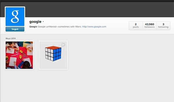 Google en Instagram